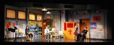Hand To God. Booth Theater. Beowulf Boritt Design