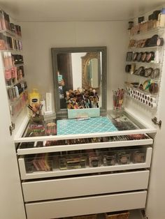 Ikea hack makeup storage using pax system!