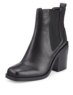 Leather Square Toe Chelsea Boots with Insolia® M&S