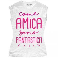 "T-SHIRT DONNA ""COME AMICA"""