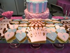 What a dessert table for a little girl's party!