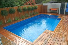 Having A Private Swimming Pool At Home Is Everyone's Dream Make your kids happy with a beautiful swimming pool. And besides that, the pool behind our house will also enhance the beauty of the… Backyard Pool Designs, Small Backyard Pools, Pool Landscaping, Outdoor Pool, Wood Pool Deck, Pool Deck Plans, Wood Decks, Pool Coping, Decks Around Pools