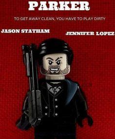 Lego Parker Movie Poster | by XxDeadmanzZ Lego Film, Lego Tv, Lego Movie, Movie Tv, Parker Movie, Cool Lego, Legoland, Ww2, Movies And Tv Shows