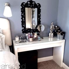 Vanity using Malm table from Ikea
