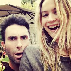 """Behati Prinsloo and Adam Levine Thanksgiving. With her man by her side, she was all smiles. """"Happy turkey day .......im thankful for so so soooooo much in my life,"""" she captioned this pic. - Behati Prinsloo and Adam Levine's cutest Instagrams"""