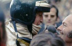 1970 Monaco GP, Monte Carlo : Jochen Rindt & Colin Chapman congratulating each other after the win (ph: © Y. Jochen Rindt, Lotus F1, Speed Racer, Monaco Grand Prix, F1 Drivers, Indy Cars, Car And Driver, Formula One, Monte Carlo
