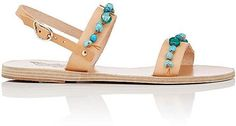 Ancient Greek Sandals WOMEN'S BEAD-EMBELLISHED CLIO LEATHER SANDALS