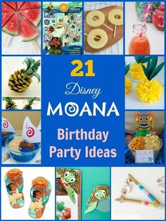 21 party ideas for a Disney Moana Birthday Party. Party crafts, games, gifts and food. You can't beat a Disney film. They are universally loved by children and adults and the latest film Moana is no exception.  When crops fail and fishermen can't catch an