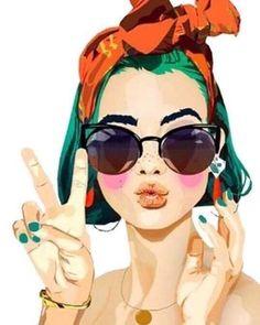 Pop art girl illustration inspiration Ideas for 2019 Art And Illustration, Illustrations, Fashion Illustration Face, Portrait Illustration, Watercolor Illustration, Pop Art Girl, Art Inspo, Watercolor Art, Dahlia