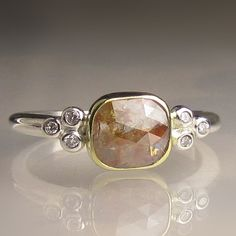 Hey, I found this really awesome Etsy listing at https://www.etsy.com/listing/192778926/natural-rose-cut-diamond-ring-18k-yellow