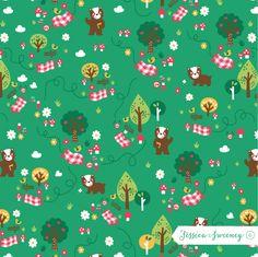 Teddy bear's picnic. Jessica Sweeney Illustration & surface design