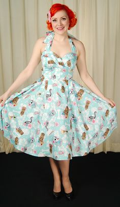 Hell Bunny Suki 50s Tiki Swing Dress for sale at Cats Like Us - 7