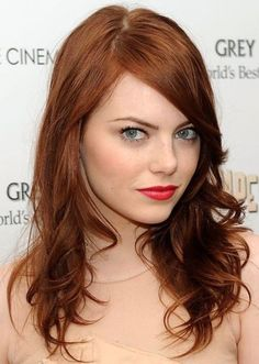 classic auburn locks. We love absolutely everything about this hairstyle: the tousled layers, the sexy side-fringe, and the deep auburn hair color. Perfectly suited to fair complexions, this shade of auburn is classy and sophisticated