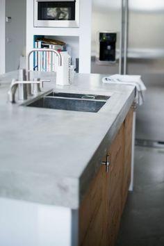 beton oberfläche kücheneinrichtung