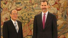 El Rey trata con el presidente filipino la colaboración bilateral y la cooperación. La visita de Benigno Aquino a España también incluye una entrevista con el presidente del Gobierno, Mariano Rajoy. 22/09/2014