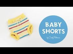 How To Make Cute and Easy Crochet Baby Pants\ Shorts\ Diaper Cover, Croby Patterns. Learn how to crochet my easy beginner friendly baby pants. The pattern presented in the tutorial is for the size 0 - 6 months. You can find bigger size - 12 months) in Learn To Crochet, Easy Crochet, Knit Crochet, Baby Knitting Patterns, Crochet Patterns, Crochet Baby Pants, Diaper Covers, Crochet Videos, Baby Booties