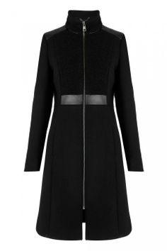 Whistles Freda Textured Funnel Coat, £225 - Winter Coats 2013