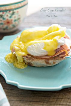 A simple brunch or breakfast recipe for Easy Eggs Benedict with Hollandaise Sauce. Elegant enough for Easter or Mother's Day Brunch!