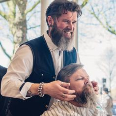 BEARDED VILLAIN   KEEP IT WELL GROOMED  Photo by @nuckingfice  Barber @barbierenschede  Beardcare @originalbarbam  In Amsterdam BV Europe #supermeet #bva16 on Sunday there was an event in local Barber Academy where you got your hair and beard on point! Ad