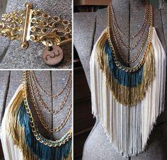 maximum fringe necklace : i love these colors!