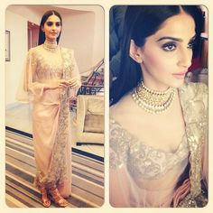 Plums and Beauty Blog: Sonam Kapoor in Anamika Khanna (Cannes 2014)