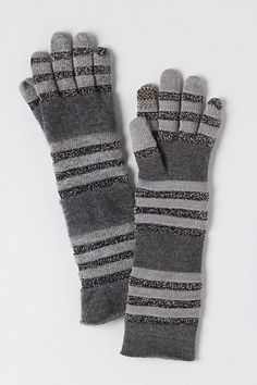 Stripened Glisten Gloves - Anthropologie.com