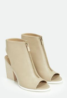 You'll love rocking these stylish faux leather ankle boots form season to season…