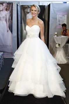 Ruffled ball gown from Casablanca Bridal. (Photo: Dan Lecca)