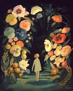 Die Nacht Garten Print 11 x 14