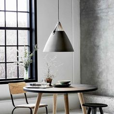 Nordlux Strap 48 Ceiling Pendant Light - Brushed Steel The Nordlux Strap 48 ceiling pendant is strikingly good-looking with its blend of smooth metal and leather strap detail, and it makes a great addition Lights Over Dining Table, Dining Room Lighting, Ceiling Pendant, Pendant Lighting, Ceiling Lights, Modern Interior, Interior And Exterior, Luminaire Suspension Design, Suspension Straps