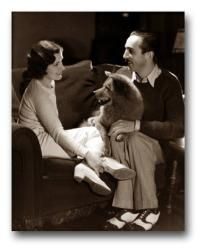 An early shot of Walt and Lillian Bounds Disney