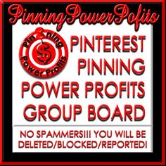 Pinning Power Profits ★ How to Pin Your Passion & Turn Your Passion Into Profit ★ Pinterest Power Prospecting, Branding & Sales Coaching/Consulting/Training for Women Entrepreneurs in Direct Sales/Network Marketing/Home Biz/Small Biz/Coaching ★ Connect with Me at www.PinningPowerP... ★ www.Twitter.com/... ★ www.Facebook.com/... for Great Tips & Resources! Happy Pinning & Profits!   ★Join Our Group Board for ALL Social Media too!★