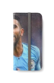 Riyad Mahrez Art Iphone Wallet Case by selulerxl