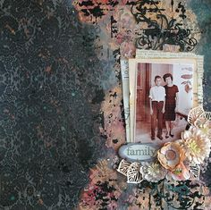 Valia's crafty world: Family - A tribute to mother's day for Memories Tr...