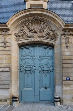 Travel Photograph, The Most Beautiful Door in Paris, Architectural Fine Art Print