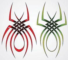 Two Spider Tribal Tattoos - 2013/06/02 - Tattoo #4623 ~ Semar88.Com