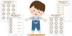 Orario Inglese Esercizi Bambini Stampare