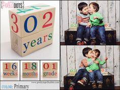 Wooden Baby Age Blocks Month Blocks Photo by PrettyInPolkaDotsky
