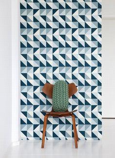 Emerald Green Interiors bold geometric wallpaper 2