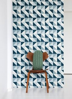 Emerald Green Interiors bold geometric wallpaper 2
