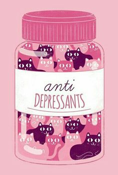 Cat pills are best pills! Antidepressants