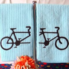 Personalized Tandem Bicycle Tea Towel Better Together