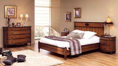 Dormitorio clasico de matrimonio modelo Toscana, en madera de cerezo.
