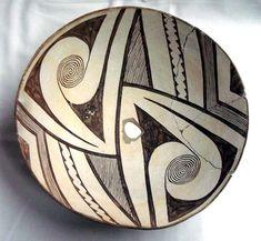 Prehistoric Geometric Classic Mimbres Bowl :