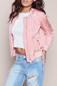 Pinky Bomber Jacket
