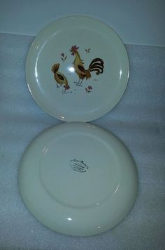 Taylor Smith & Taylor 4 Break O'Day Dinner Plates chicken and rooster
