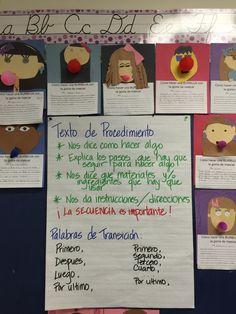 Procedural Text - Spanish Anchor Chart