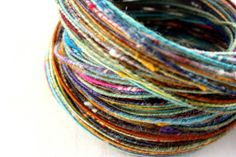 Want some. Traveling Speck no 6 Wire Corespun Fingering Weight by moonrover. $38.00, via Etsy.