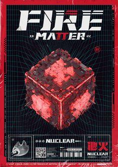 硬核物质概念海报 The Nuclear Matter Concept Poster - 原创作品 Graphic Design Posters, Graphic Design Typography, Graphic Design Inspiration, Graphic Art, Custom Street Bikes, Arte Cyberpunk, Music Artwork, Editorial Design, Cover Design