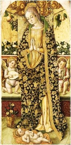 Vittorio Crivelli (Italian artist, c 1440-1501) VIRGIN and ANGELS